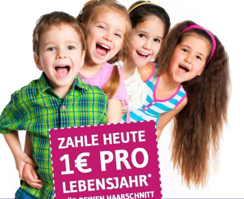 1€ pro Lebensjahr jeden Donnerstag ab 13 Uhr